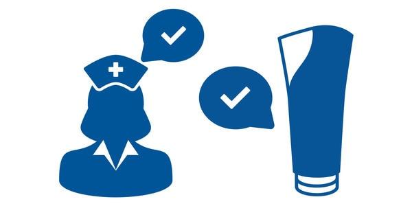 infographic verpleegster en fles