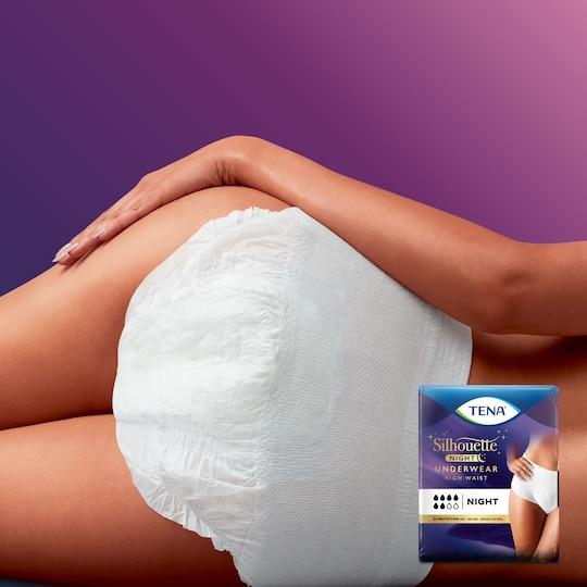 TENA Silhouette Night High Waist Blanc - Incontinence underwear