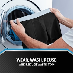 Wear, wash, reuse -  And reduce waist too