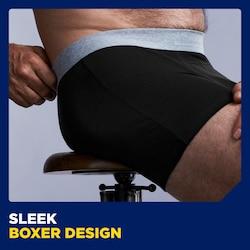 Sleek boxer design - Black with grey trim