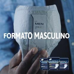 Os pensos TENA Men são concebidos para se ajustarem à anatomia masculina