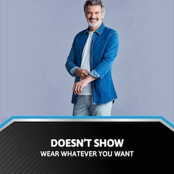 Doesn't show - Wear whatever you want