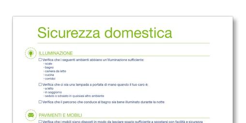 Immagine del modello per la sicurezza domestica creato da TENA Prendersi cura di una persona cara