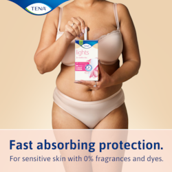 Fast absorbing protection for light incontinence