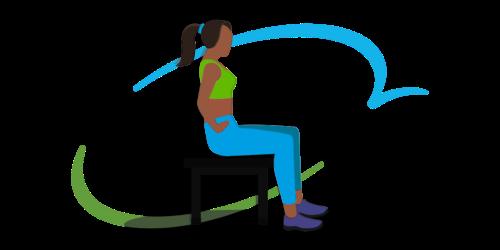 Übung 1 zur Beckenbodengymnastik