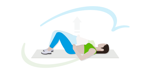 Übung 2 zur Beckenbodengymnastik