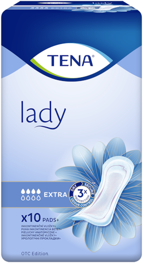 TENA Lady Extra | Incontinence pad for incredible protection