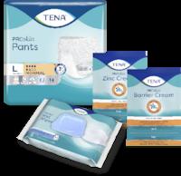 TENA Pants vpojne hlačke in TENA Skincare