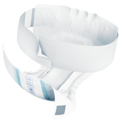 TENA ProSkin Flex Plus - Absorbent incontinence belted brief with Triple Protection for dryness, softness and leakage security.