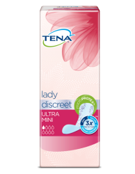 TENA Lady Discreet Ultra Mini – diskré truseinnlegg for lett urinlekkasje