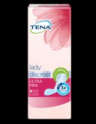 TENA Lady Discreet Ultra Mini - discrete inlegkruisjes voor een licht zwakke blaas