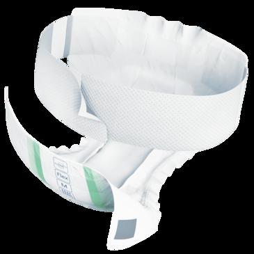 TENA ProSkin Flex Super – miękkie pieluchomajtki chłonne zpasem mocującym na nietrzymanie moczu zpotrójną ochroną, zapewniające poczucie suchości izabezpieczenie przed przeciekaniem.