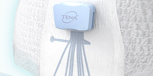 Close up on a pair of TENA Identifi pants