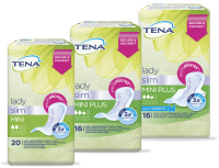 TENA Lady Slim Mini & TENA Lady Slim Mini Plus & TENA Lady Slim Mini Plus Wings