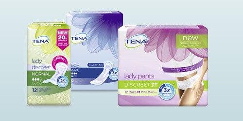 TENA produktutbud för kvinnor
