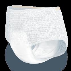 Hlačke TENA PantsProSkin Normal – Vpojne hlačke za inkontinenco s trojno zaščito za suhost kože, mehkobo in varovanje pred iztekanjem.