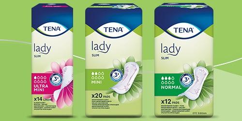 Asortiman proizvoda TENA Lady Slim