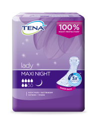 TENA Lady Maxi Night compresas para la incontinencia femenina