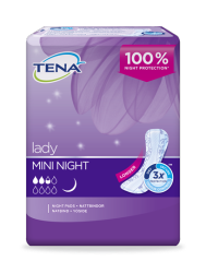 TENA Lady Mini Night langer incontinentieverband voor vrouwen