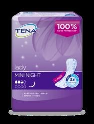 Protection d'incontinence TENA Lady Mini Night plus longue pour femmes