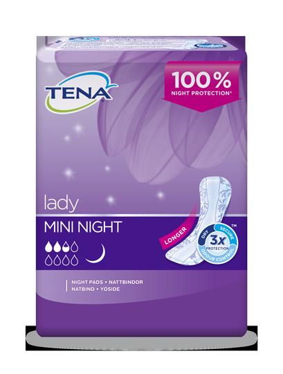 TENA Lady Mini Night längre inkontinensskydd för kvinnor