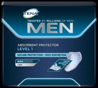 Simbolna slika vpojne predloge TENA Men Level 1 z nizko stopnjo vpojnosti
