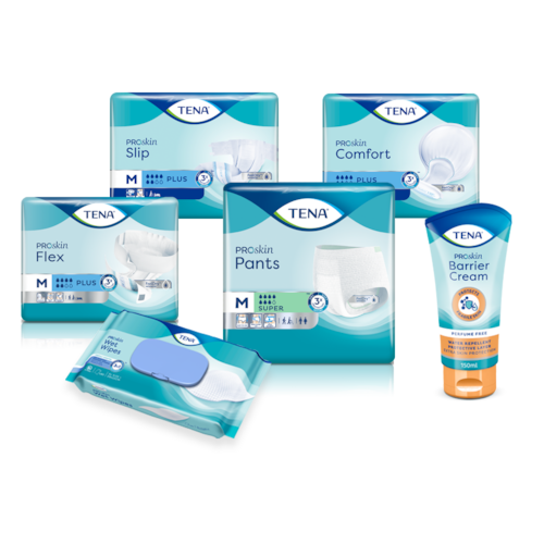 Explore TENA ProSkin products for skin health