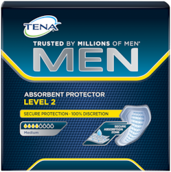 TENA Men Absorbent Protector for security against urinary leaks and surges