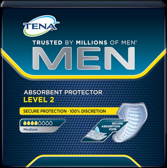 Simbolna slika vpojne predloge TENA Men Level 2 s srednjo stopnjo vpojnosti