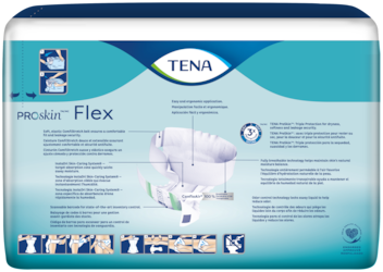 TENA ProSkin™ Flex belted incontinence briefs back of pack